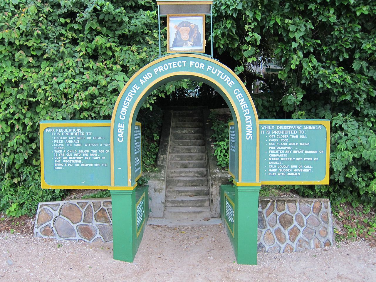 Entrance to Gombe Stream National Park